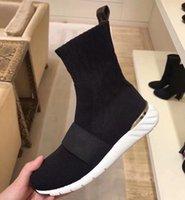 Женщины силуэт лодыжки ботинок Мартин сапоги 2021 предупреждают ботас растягивающие ткань бузи печать цветок каблука дам повседневная обувь