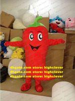 Hotly Pepper Chili Chili Capsicum Jalapeno Jingapeno Mascot Costume Adulte Green STKING NOIR COURBE SURVEEURS ROUGE Langue N ° 8021