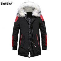 Boorubao Men Brand Toper Parka Winter Мужской утолщение вскользь пальто одежды куртки мужчины Parka Coa