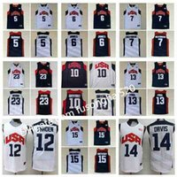 Mens Basketball 2012 Team USA Jersey Kevin 5 Durant Lebron 6 James 12 Harden Russell 7 Westbrook Chris 13 Paul Deron 8 Williams Anthony 23