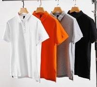 Chemise Polos Hommes Summer Vapel T-shirt respirant T-shirt respirant Haute Qualité Slim Hommes à manches courtes 5 couleurs Taille L-4XL WF2104211