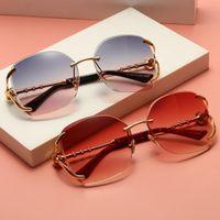 Sunglasses Style Polygonal Trim Diamond-studded Ladies T-shaped Camellias Frameless New Fashion Cxofj