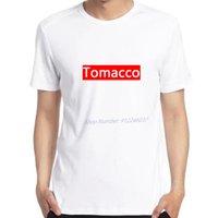 Men's T-Shirts Tomacco T Shirt Sign Symbol Logo Tobacco Tomato Smoker White Funny Oversized Men Tee Clothing