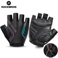 ROCKBROS Cycling Half Finger Gloves MTB Road High Reflective Ant-slip Shockproof Bike Motorcycle Fingerless Sports Glove Accessories