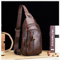 الرجال حقيقية عارضة حقائب كروسبودي حقيبة جلدية الصدر حقيبة للرجال أزياء الرحلة حقيبة يمكن عقد 7.9 بوصة IPAI