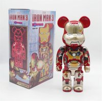 Best-selling 400% 28CM Bearbrick The PVC Famous Movie Characters Fashion bear Chiaki figures Toy For Collectors Be@rbrick Art Work model dec