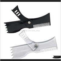 Cheveux Brushes 2x Barbe Formation de la barbe Moustache Styling Styling Modèle Guide Guide Rulmer Stencil VLTXX FA85D