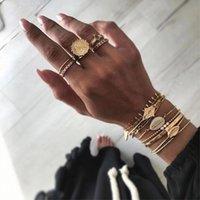 Love Ring versatile Fashion round Lace diamond set sun flower joint 5-piece
