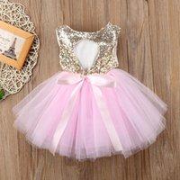 Girl's Dresses Princess Kids Baby Dress For Girls Fancy Wedding Sleeveless Sequins Party Birthday Baptism Girl Summer