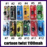 Cartoon Impression complète Twist Batterie Backwoods Biscuits Runtz 1100mAh Tension variable Tension Réglable Vape Blister Blister avec chargeur USB 0268209
