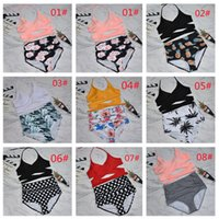 2021 Two-piece Separates Sexy strap bikini Split-body swimsuit High waist bathing suit for spring summer swimming equipment