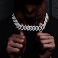 Pendant Necklaces High Quality Iced Out Men Jewelry 5A CZ Hip Hop Bling Micro Pave 19mm Cuban Link Chain Big Heavy Chunky Necklace For Boy