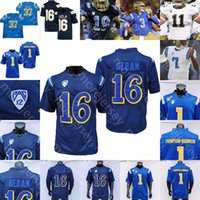 NCAA College UCLA Bruins 축구 유니폼 Maurice Jones-Drew Dorian Thompson-Robinson Ethan Gherbers Zach Charburnnet Brittain Brown Kazmeir Allen Kaho