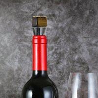 Objetos decorativos Figuras Champagne Corcho con piedras preciosas de cristal Plaza de vino tinto Tapón de vino de acero inoxidable Base de silicona Base Inseé Precioso Sto