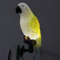 Güneş Enerjisi LED Işık Kuş Papağan Lambası Klip Gece Işıkları Için Açık Bahçe Yolu Süs Lors889 Süslemeleri Için