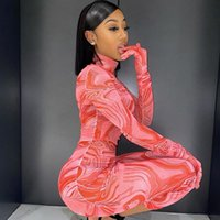 Casual Dresses Sexy Mesh Bodycon Dress With Gloves Party Night Club Women Elegant Birthday Outifts Long Sleeve Midi Drop