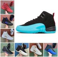 2022 Jumpman 12S Mens Baloncesto Zapatos 12 Gamma Blue Gripe Game Royal Twist Utility Playoffs Pascua Taxi FIBA OVO White Dark Concord Trainer Sneakers