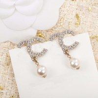 2021 Top-Qualität-Ohrstecker mit Diamant und weißer Perle für Frauen Hochzeit Schmuck Geschenk haben Kastenstempel PS3127