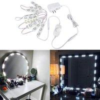 المكياج مرآة ضوء عكس الضوء الناعم الأبيض 10 وحدة الصمام المصابيح 6.56 قدم مع التبديل باهتة وإمدادات الطاقة لوحدات التجميل mirro
