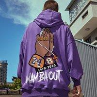 KB 24 8 Imprimer homme Hoodies Homme Sweat à capuchon Basket Basketball Sweat à capuche surdimensionnée Sports Sports Hip Hop Pull Sweatshirts Coton Loose Streetwear