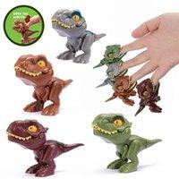 実用的なジョークパーティーフィンガー恐竜卵のおもちゃクリエイティブトリッキーなティラノサウルスのおもちゃインタラクティブな噛み掛けの手レックスモデルDINO BITEゲーム子供の贈り物