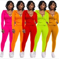 Women's Two Piece Pants Set Tracksuit Women Festival Clothing Fall Winter Top+pant Sweat Suits Neon 2 Outfits Matching Sets2021