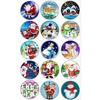 50 шт. Charm рождественские подарка чар временные драгоценные изделия для ювелирных украшений для 18 мм DIY Button Bracte Bracte