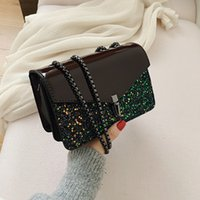 Fashion Brand Design Women Casual Daily New Chain Sequined Shoulder Crossbody Bags For Elegant Flap Travel Trend Tote