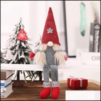 Christmas Festive Supplies & Gardenchristmas Decorations Handmade Swedish Gnome Santa Standing Plush Doll Ornaments Xmas Holiday Home Party