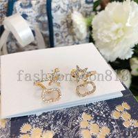 상자 패션 여성 귀걸이 쥬얼리 Luxurys 디자이너 귀걸이 스터드 진주 귀걸이 Des Boucles D 'Oreilles 디자이너 후프