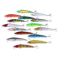 HENGJIA 105pcs Minnow Fishing Lures 14.5CM 17.6G 145mm 5.7inch 0.62OZ baits Crank lures fresh water swimbait 242 B3