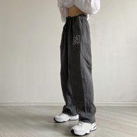 Women's Pants & Capris Harajuku Casual Sweatpants Women Loose Letter Embroidery Trousers Vintage Style Female Fashion Autumn Tracksuit Botto