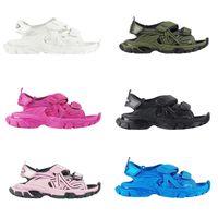 Designer Sandalo Piattaforma di Sandalo Moda Uomini Donne Sandali Stivaletti Sneakers Pantofole Rosa Bianco Nero Blu Slifts Beach Scarpe Casual Spessore Thick Bottom XX-0038