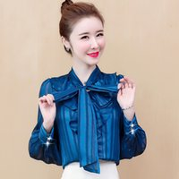Early Spring 2021 New Style Chiffon Top Care Machine Design Feeling Ruffle Meat Covered Lantern Sleeve Shirt