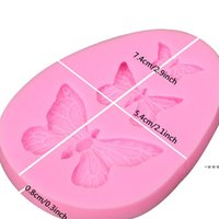 NEWNEWNEWDiy Cake Baking Moulds Chocolate Ice Cream Silicone Molds Simulation Butterfly Cakes Food Grade Decoration Kitchen Solid Color LLE8