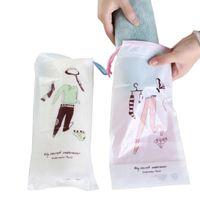 Toiletry Kits 2pcs Travel Accessories Drawstring Packing Organizers Cosmetic Bag Women Men PVC Makeup Case Make Up Bath Storage Pouch Kit