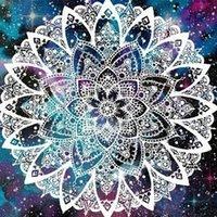DIY 5D Elmas Boyama Mandala Çiçekler Çapraz Dikiş Kiti Tam Elmas Nakış Mozaik Sanat Resim Rhinestones Ev Dekorasyonu ile