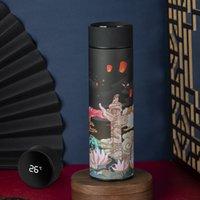 Coupe-gobelet Smart portable avec affichage de la température Bouteille d'eau Creative 500ml Tasse de café sous vide