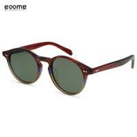 Eoome Hand Made Men Fashion Polarized Lens Vintage 1960's Steam Punk Small Round High Qaulity Korea Style Optical Framesg1ww