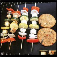 Diğer Ev Bahçe Kullanımlık Hiçbir Sopa Izgara Mat Pişirme Pişirme Kolay Temiz Izgara Kızarmış Levha Taşınabilir Açık Piknik Barbekü Aracı BBQ Agizv