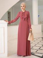 Длинные женщины платье хиджаб с бабочковым воротником Исламская мусульманская одежда высокая качественная ткань изготовлена в Турции 2021 новый сезон арабский Дубай