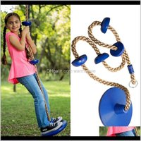 Children Disc Toy Seat Kids Round Rope Swings Playground Hanging Garden Swing Outdoor Gadgets Zza2349 Ichte L9Ho0