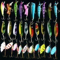 Fishing Lure Mix Hard lure&Spinner&Spoon swimbait Carp 30pcs lot Metal for bait spinner metal 210622