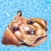 Dev Şişme Köpek Havuzu Şamandıra Floatie Ride-on Yaz Adası Plaj Şamandıra Yüzme Havuzu Parti Su Oyuncakları Yetişkin Çocuklar için