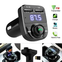 X8 FM Transmitter Aux Modulator Bluetooth Handsfree Car Kit Audio MP3 Player with 3.1A Quick Charge Dual USB Charger