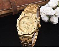 2020 Alle Unterdehnungen Arbeit Freizeit Herrenuhren Edelstahl Quarz Armbanduhren Stoppuhr Watch Watch für Männer Relojes Bestes Geschenk