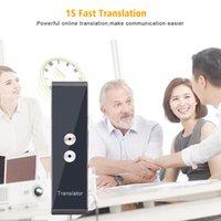 T8 Ses Tercüman 40 Dil Kablosuz İş Öğrenme Ofis Eşzamanlı Tercüme-Tercüman Mini 2 Yollu Gerçek Zamanlı App Bluetooth Akıllı Cihaz