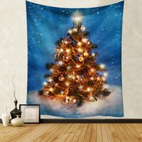 2022 Christmas 150*130cm size printed household tapestry wall hanging beach towel sitting carpet hanging cloth straight