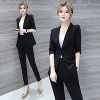 Blazer Kadın 2021 Moda Takım Elbise Bahar Profesyonel İş Kıyafetleri Yüksek Son Trend