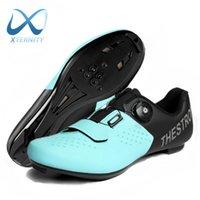 Новое поступление Велосипедная обувь Мужчины Дышащие спортивные MTB самоблокирующие дорожные кроссовки на велосипеде Горный гоночный велосипед плоский Clear SPD 210702